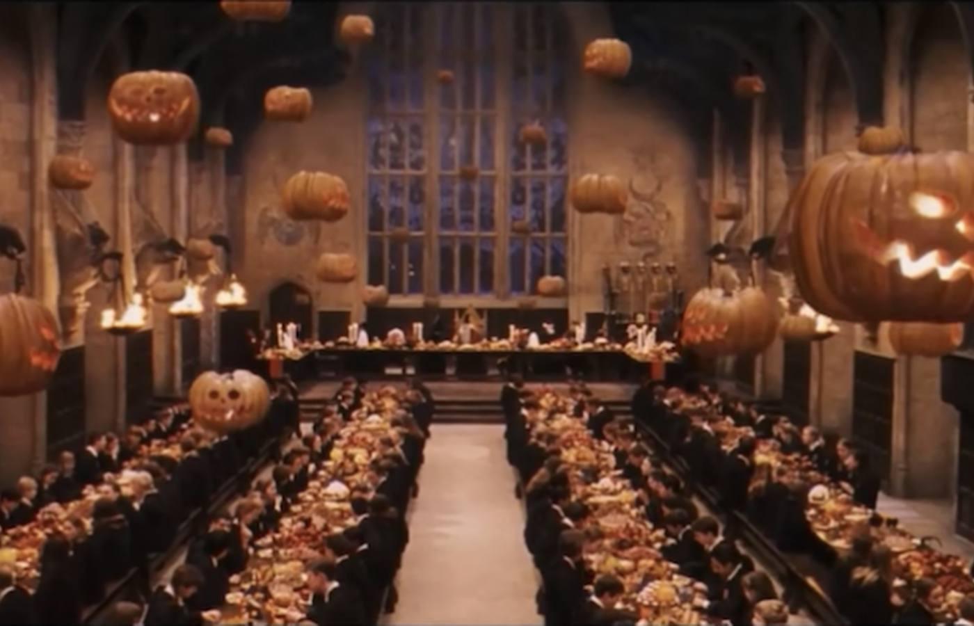 Harry Potter Halloween Decor: Floating Pumpkins