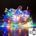 UL Listed Plug In 200 LED 100 ft/30M Multi Color Starry Fairy Lighting