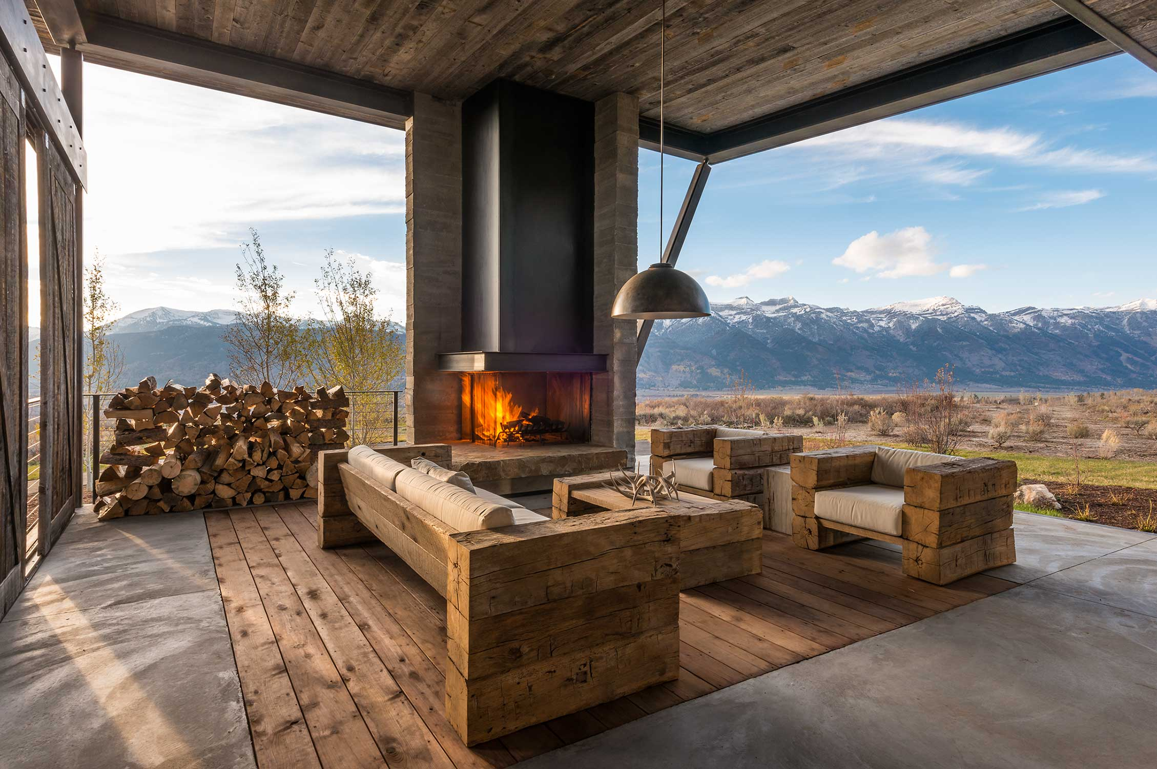 Indoors meets outdoors in Jackson Hole, Wyoming