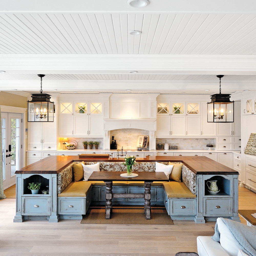 Island and Kitchen Table Combo