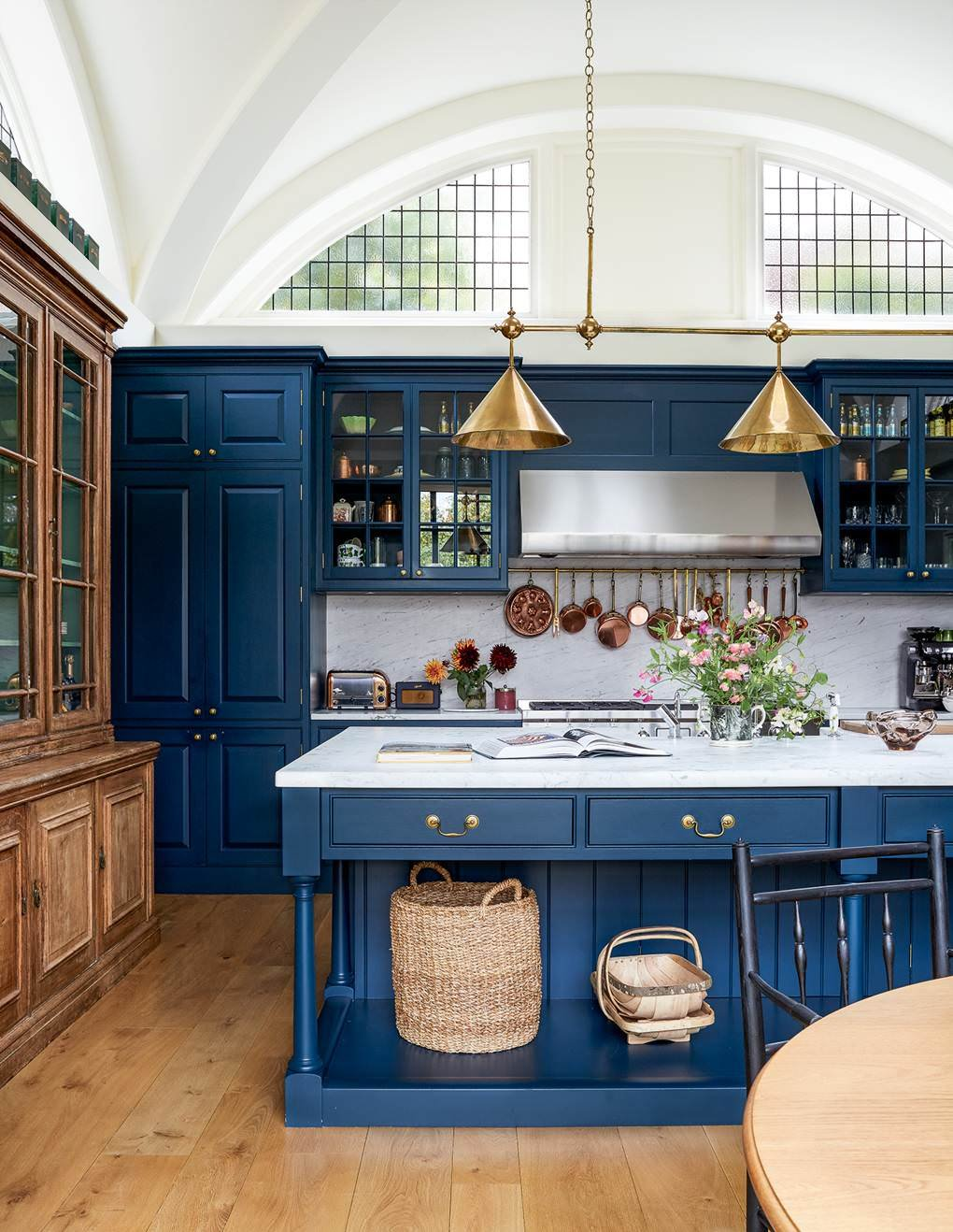 Blue Painted Kitchen in North London Home